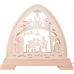 Pointed Arch - Christmas Room without Figurines - 42x42,5 cm / 16.5x16.7 inch