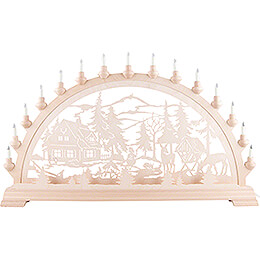 Candle Arch - Forester's House with Deer - 84x49 cm / 33.1x19.3 inch