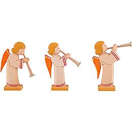 Engelgruppe mit Flöte 3-teilig - 5,5 cm