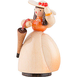 Schaarschmidt Hat Lady with Umbrella - 4 cm / 1.6 inch