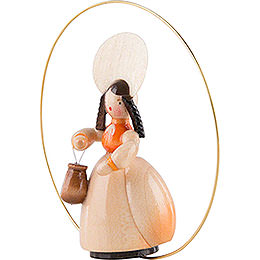 Schaarschmidt Hat Lady with Handbag in Ring - 6 cm / 2.4 inch
