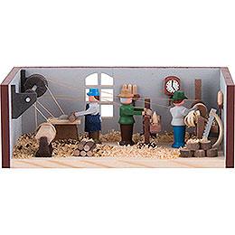 Miniaturstübchen Drehwerk - 4 cm