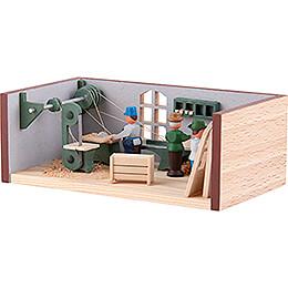 Miniaturstübchen Tischlerei - 4 cm