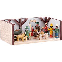 Miniaturstübchen Krippenstube - 4 cm