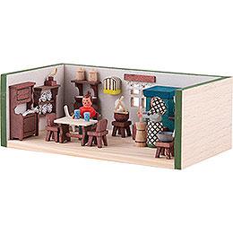Miniaturstübchen Bauernstube - 4 cm