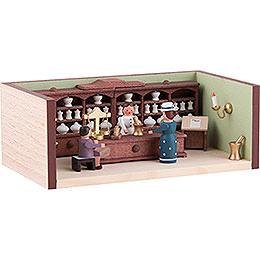 Miniaturstübchen Apotheke mit Apothekerin - 4 cm