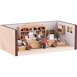 Miniature Room - Small Corner Shop - 4 cm / 1.6 inch