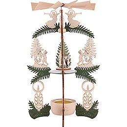 1-stöckige Pyramide Kinder Christbaum - Heiliger Abend - 26 cm