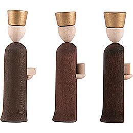 Könige 3-teilig natur - 5 cm