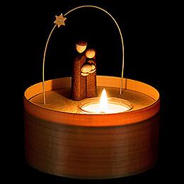 Heilige Familie Teelichtset natur - 11 cm