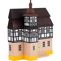 Backdrop House - Townhall with Half-Timbered Tower - 16 cm / 6.3 inch