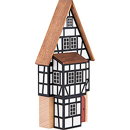 Backdrop House - Business Building with Half-Timbered Annex - 16 cm / 6.3 inch
