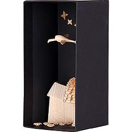 Storch in Schachtel - 10,9 cm