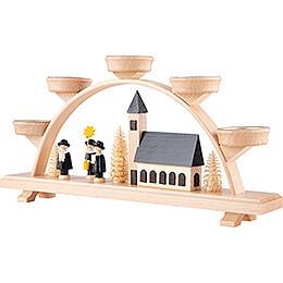 Schwibbogen Kirche und Kurrende - 33x16,5 cm