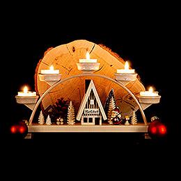 Schwibbogen Weihnachtsmann - 33x16,5 cm