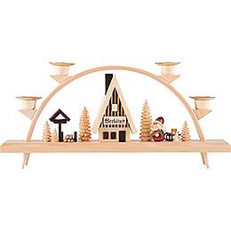 Schwibbogen Weihnachtsmann - 33x15 cm