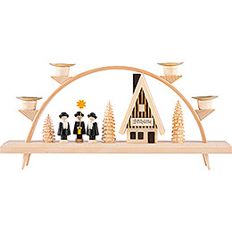 Candle Arch - Ski Lodge with Carolers - 33x15 cm / 13x5.9 inch