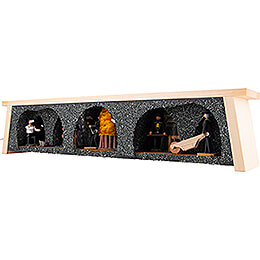 Illuminated Stand - Fire-Setting - 19th Century - 60x16 cm / 23.6x6.3 inch