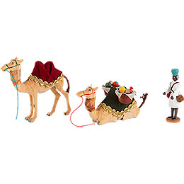 Cameleer and two Camels - 10 cm / 3.9 inch