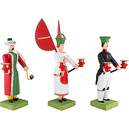 Ore Mountain Trio - Angel, Miner and Smoker - 30 cm / 11.8 inch