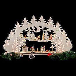 3D Candle Arch - 'A Snowman's Wonderland' - 66x40x8,5 cm / 26x16x3.3 inch