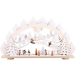 3D Candle Arch - 'Children in the Snow' - 66x40x8,5 cm / 26x16x3.3 inch