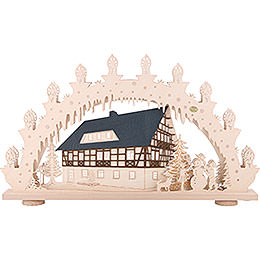 3D Candle Arch - 'Half Timbered House' - 66x39x6 cm / 26x15x2.3 inch