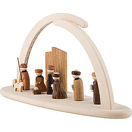 Modern Light Arch - LED Illuminated - Nativity - 42x21x13 cm / 16x8x5 inch