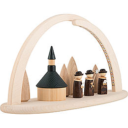 Modern Light Arch - Seiffener Church - 42x21x13 cm / 16x8x5 inch