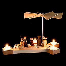 1-Tier Pyramid Octogonum - Nativity - 23 cm / 9.1 inch