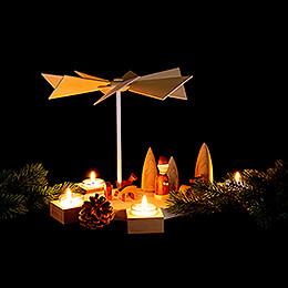 1-Tier Pyramid Octogonum - Christmas - 23 cm / 9.1 inch