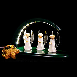 Modern Light Arch - Angels - green - 24x13 cm / 9.4x5.1 inch