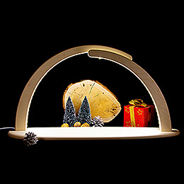 Leuchterbogen mit LED - ohne Bestückung - 70x37 cm