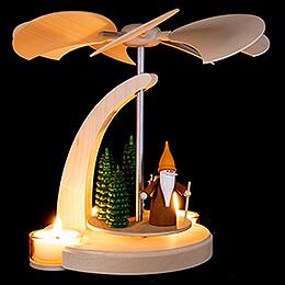 1-stöckige Bogenpyramide Waldarbeiterwichtel - 18 cm