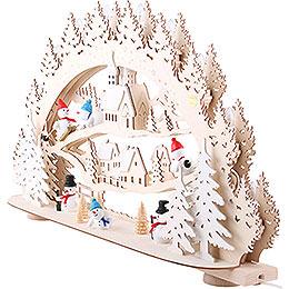 3D Candle Arch - 'Snowman' - 66x40x11,5 cm / 26x16x5 inch