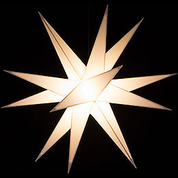 Advents Star for Inside and Outside Use White incl. Lighting - 60 cm / 23.6 inch