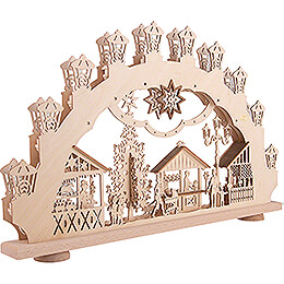 3D Candle Arch - Christmas Market - 66x40 cm / 26x15.7 inch