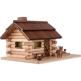 Smoking Hut -  Garden Log Cabin - 10,5 cm / 4.1 inch