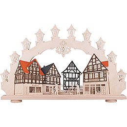 3D Candle Arch - Old Town - 66x41x6 cm / 26x16x2 inch
