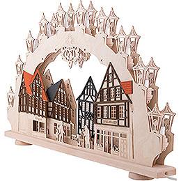 3D-Doppelschwibbogen Altstadt - LED - 66x41x6 cm