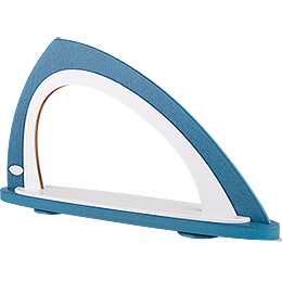 Light Arch without Figurines - Asymmetrical Blue/White - 52x29,7 cm / 20.5x11.7 inch