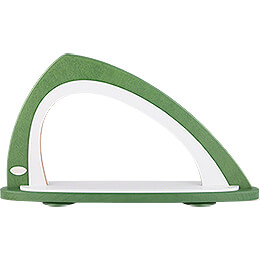 Light Arch without Figurines - Asymmetrical Green/White - 52x29,7 cm / 20.5x11.7 inch