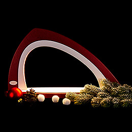 Light Arch without Figurines - Asymmetrical Bordeaux/White - 52x29,7 cm / 20.5x11.7 inch