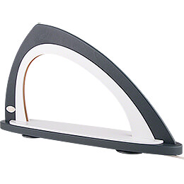 Light Arch without Figurines - Asymmetrical Grey/White - 52x29,7 cm / 20.5x11.7 inch