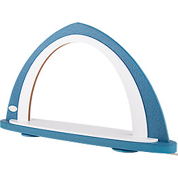 Light Arch without Figurines - Blue/White - 52x29,7 cm / 20.5x11.7 inch