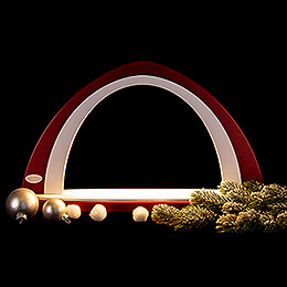 Light Arch without Figurines - Bordeaux/White - 52x29,7 cm / 20.5x11.7 inch