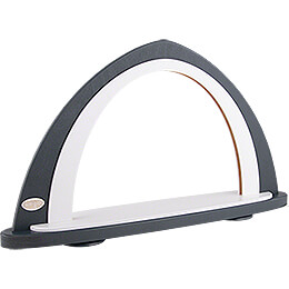Light Arch without Figurines - Grey/White - 52x29,7 cm / 20.5x11.7 inch