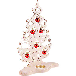 Tea Light Holder - Christmas Tree with Red Baubles - 30,5 cm / 12 inch