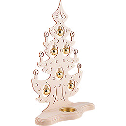 Tea Light Holder - Christmas Tree with Golden Baubles - 30,5 cm / 12 inch