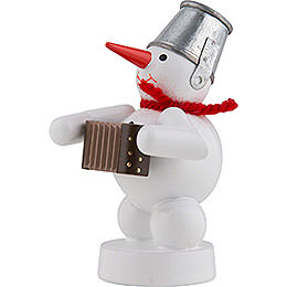 Snowman-Musician with Accordion - 8 cm / 3 inch